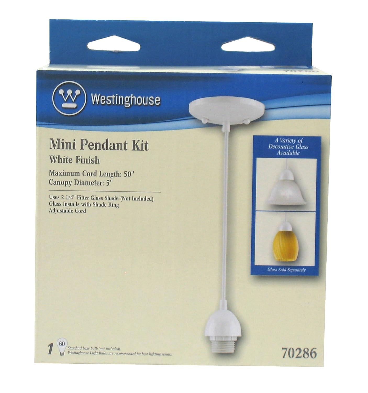Westinghouse Lighting 7028600 Single-Light Mini-Pendant Kit with White Finish - Paper Lantern L&s - Amazon.com  sc 1 st  Amazon.com & Westinghouse Lighting 7028600 Single-Light Mini-Pendant Kit with ... azcodes.com