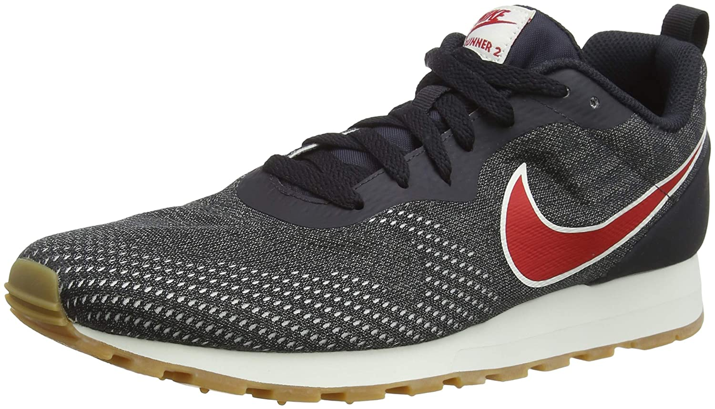 Nike MD Runner da 2 ENG Mesh, Scarpe da Runner Ginnastica Basse Uomo 46 EU|Multicolore (Oil Grey/University Red/Gunsmoke 009) 6b55cc