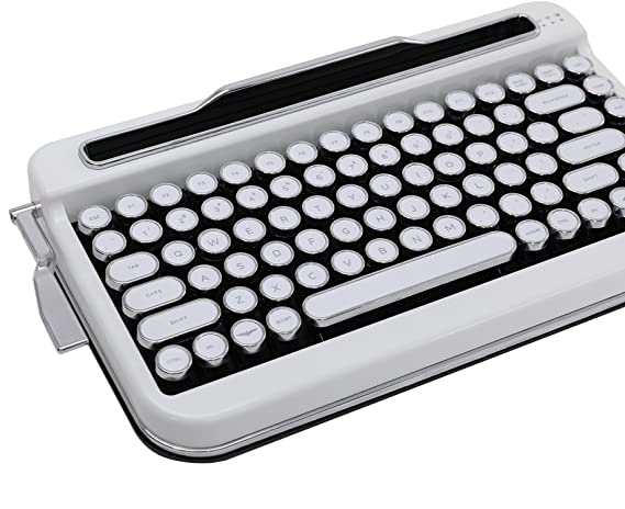 Amazon.com: Penna Bluetooth Keyboard with White Chrome Keycap(US Language) (Switch-Cherry Mx Red, Pure White): Computers & Accessories