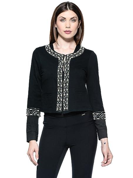 Annarita N Chaqueta Chanel Negro ES 36: Amazon.es: Ropa y ...