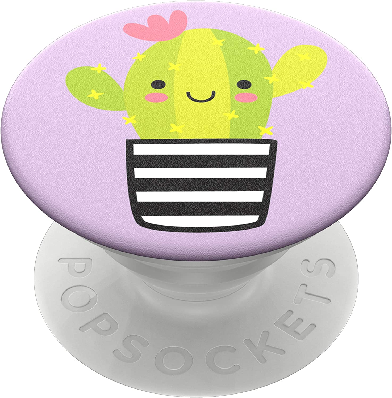 PopSockets PopGrip - Soporte y Agarre para Teléfonos Móviles y Tabletas con un Top Intercambiable - Cactus PAL