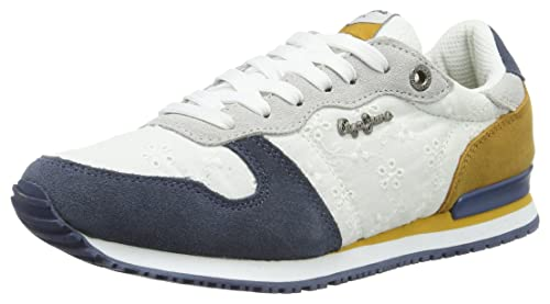 Pepe Jeans London - Zapatillas Mujer, Blanco (White), 41 (EU)