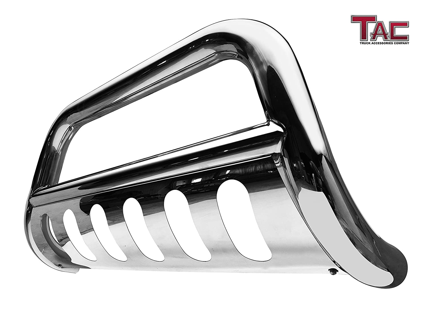 "TAC Bull Bar for 2009-2018 Dodge RAM 1500 (Excl. Rebel Trim/Incl. 2019 Ram 1500 Classic) Pickup Truck 3"" Stainless Steel Front Brush Bumper Guard Push Guard Off Road Automotive Exterior Accessories"