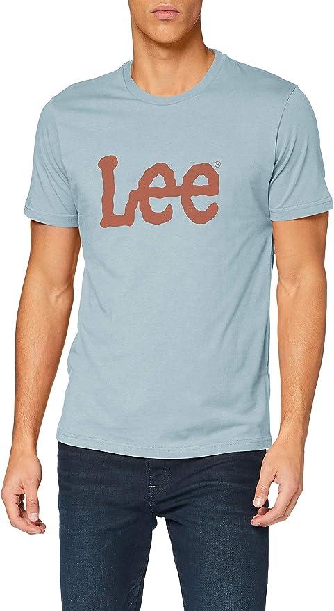 TALLA S. Lee Woobly Logo tee Camiseta para Hombre