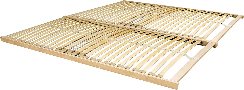 The Bed Slats Company Nevada 6 ft Super King de Madera ...