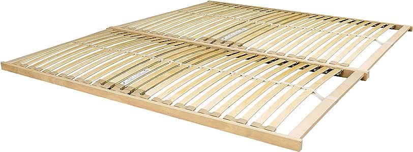 Nevada 5 pies king de madera – Somier de láminas de marco con curvas – se envía en 2 Partes: Amazon.es: Hogar