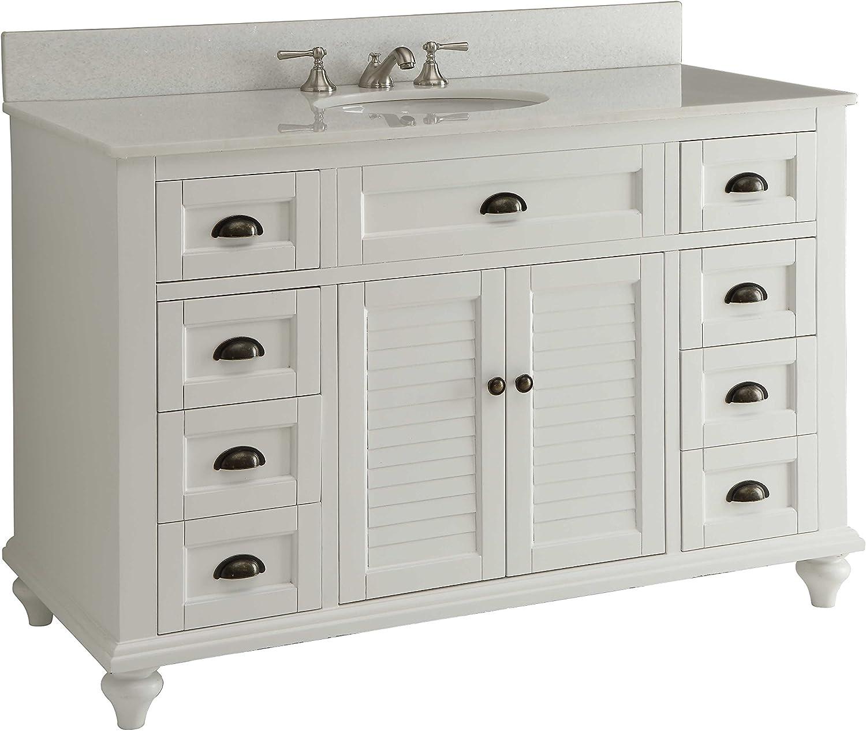 Amazon Com Glennville 49 Cottage Bathroom Vanity Cabinet Set In White Gd28327 Kitchen Dining