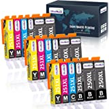 OfficeWorld Compatible 250 251 Ink Cartridge Replacement for Canon 250XL 251XL PGI-250XL CLI-251XL (18 Packs) for use with Ca
