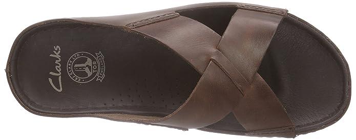 8ce1bf94f02e98 Clarks - Netrix Jump, Sandalo da Uomo, Marrone (Brown Leather), 47:  Amazon.it: Scarpe e borse