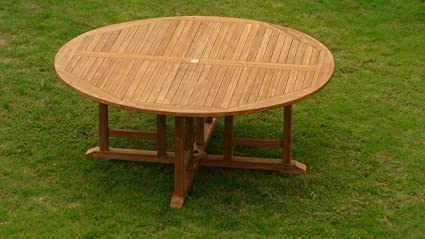 72 round dining table extra large gradea teak wood 72quot round dining table whdt72 amazoncom 72