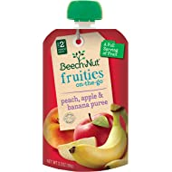 Beech-Nut Fruities On-the-Go, Baby Food, Stage 2, Peach, Apple & Banana, 3.5 Ounce Pouch (Pack of 12)
