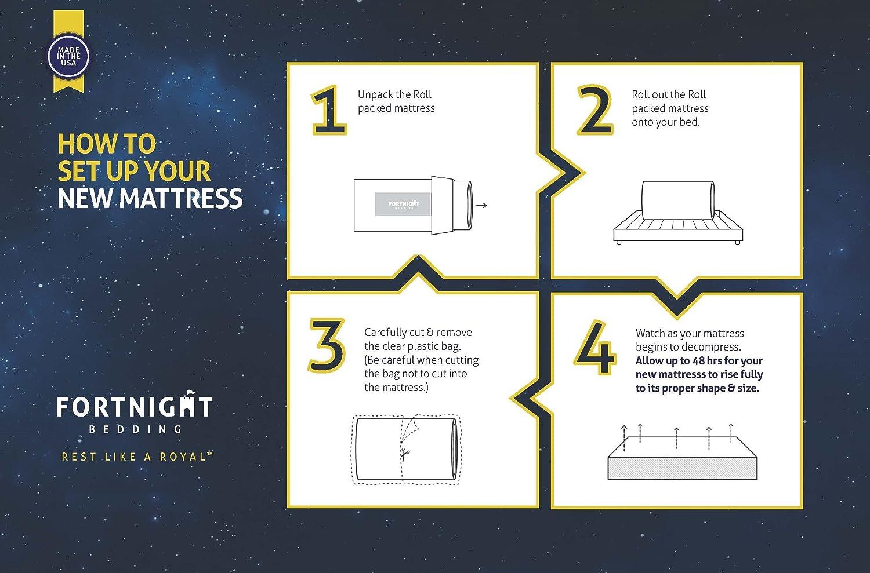 Amazon.com: Fortnight Bedding 6 inch Foam Mattress with Durable ...