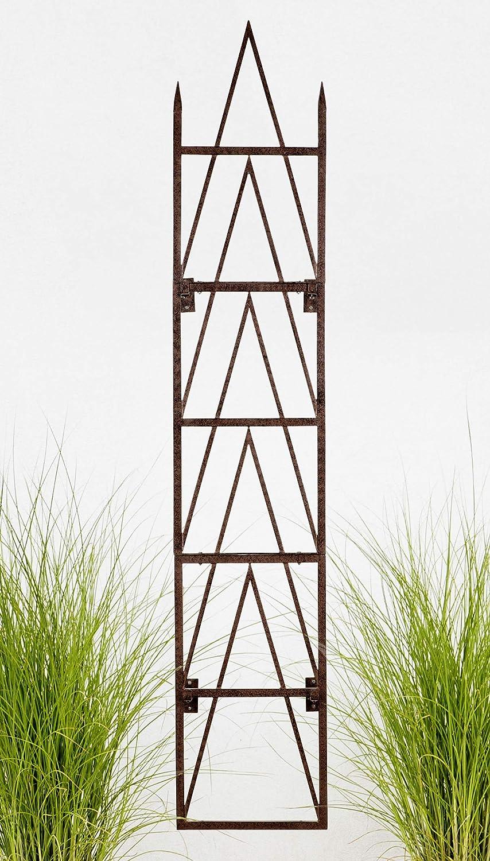 H Potter Garden Trellis for Climbing Plants Metal Tall Vertical Wall Trellises Wrought Iron Panels Privacy Screen Outdoors for Ivy Rose Clematis Garden Outdoor Decoration 8 Foot (Trellis W/Brackets)