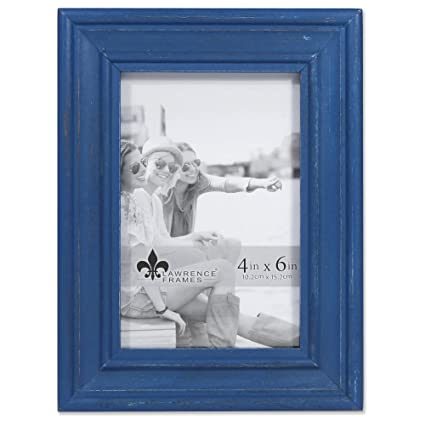 Amazon.com - Lawrence Frames Weathered Woods 4x6 Durham Navy Blue ...