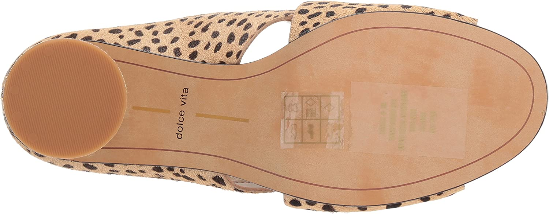 Dolce Vita Damen Javi Sandalen mit Absatz Leopard Calf Hair