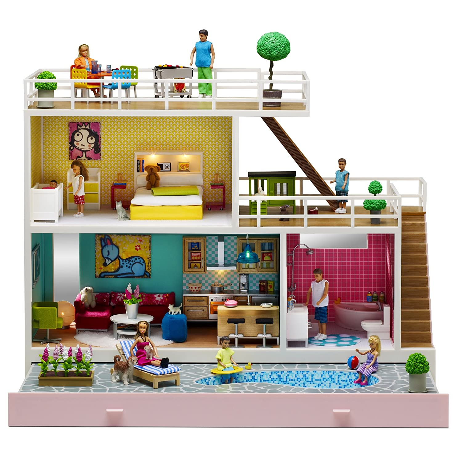 12d788079492 Amazon.com: Lundby 1:18 Scale Stockholm Doll's House: Toys & Games