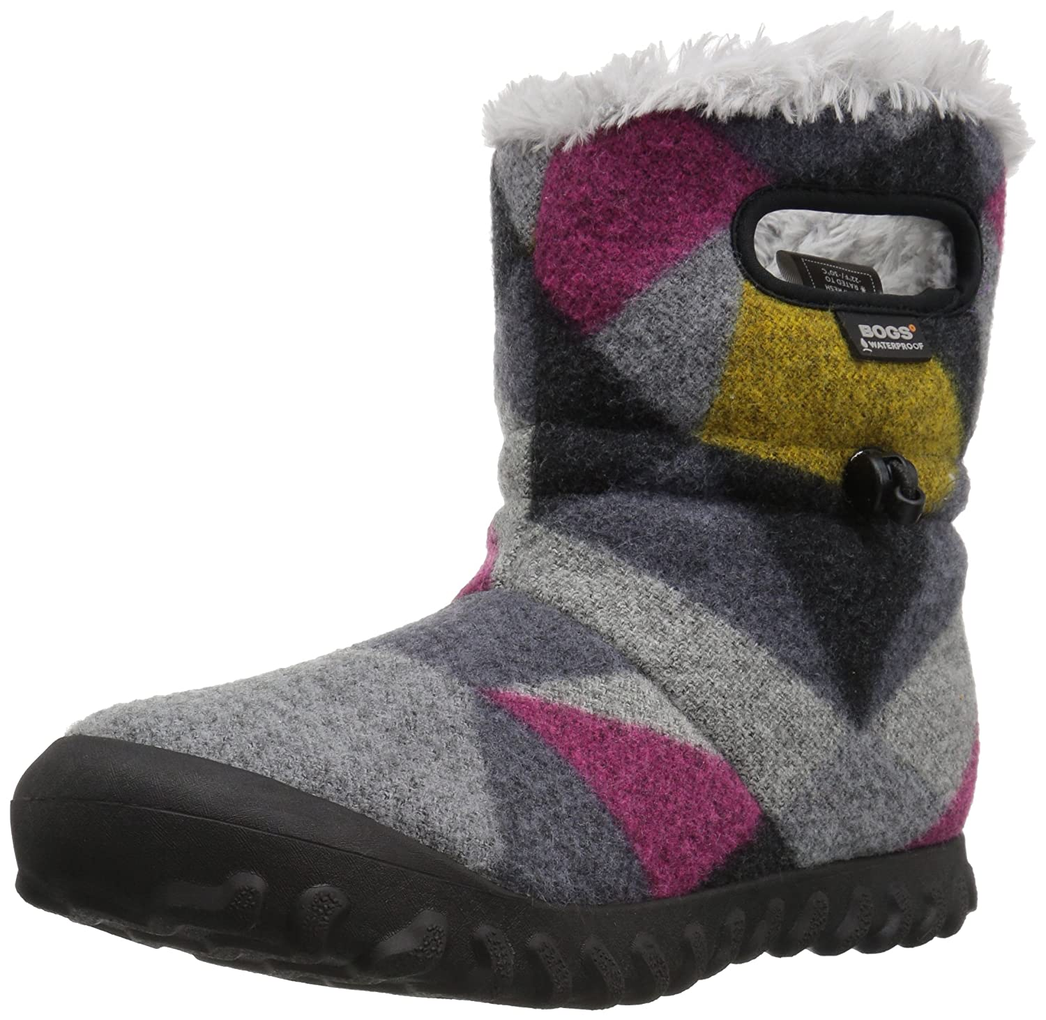 Bogs Women's Bmoc Wool Snow Boot B01N7AR1N3 7 B(M) US|Dark Gray/Gold