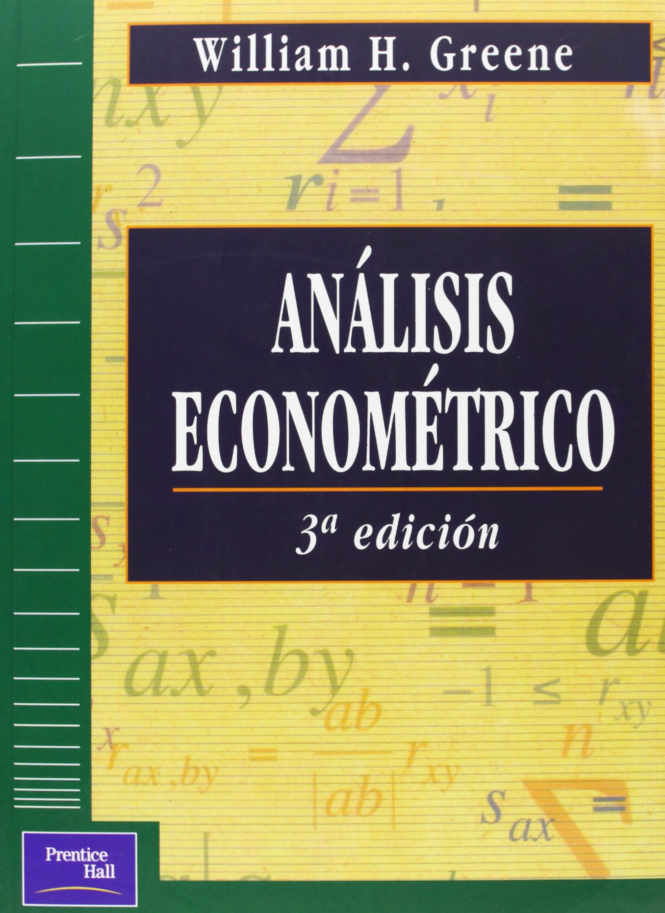 analisis econometrico william greene