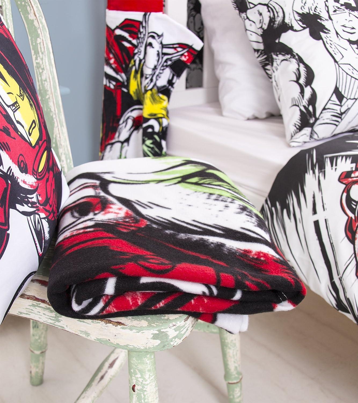 Multi Coloured Marvel Comics Fleece Blanket 150 x 100cm