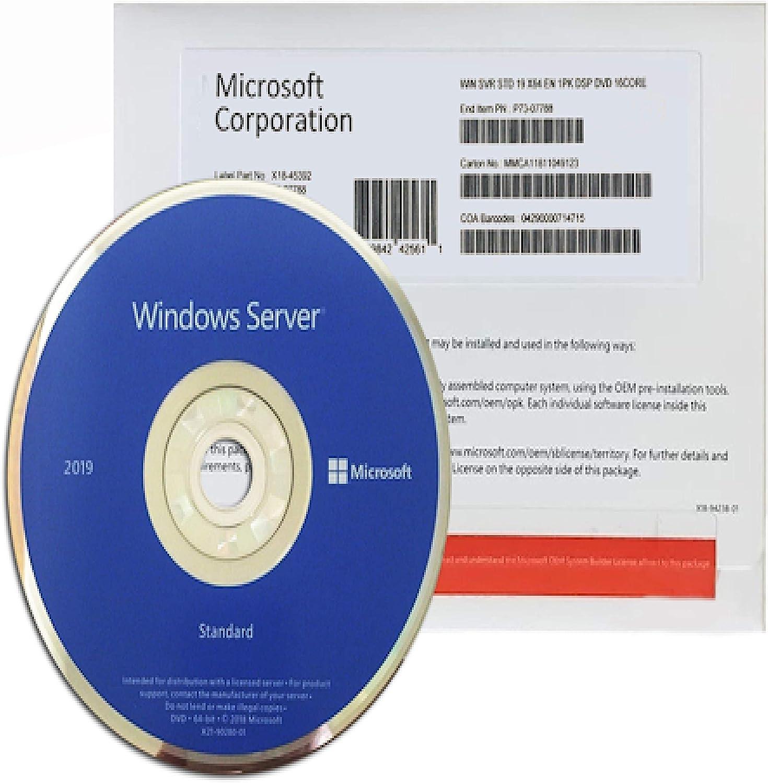 Windows Server 2019 Standard | OEM | DVD | 64 Bit | 16 Core | Original