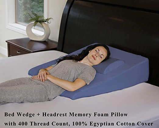 InteVision Memory Foam Bed Wedge Pillow - Multipurpose and Comfortable