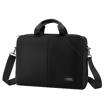 Plemo 15 Inches Laptop Bag, Nylon Multi-compartment Large Capacity Laptop Shoulder Bag for 15-15.6 Inches Laptops, Black 50%OFF