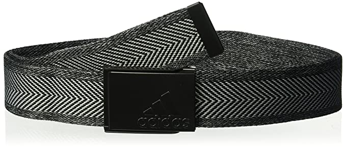 e5b8246b7331bb Amazon.com: adidas Golf Heather Webbing Belt, Black/Grey Heather ...