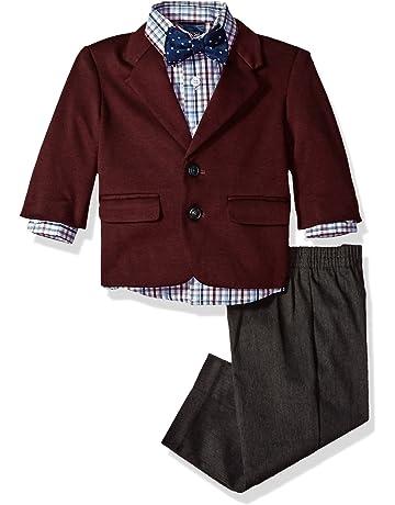 87b99631b Nautica Baby Boys 4-Piece Suit Set with Dress Shirt, Jacket, Pants,