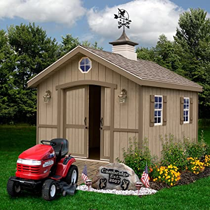 amazon com best barns cambridge 10 x 16 wood shed kit garden
