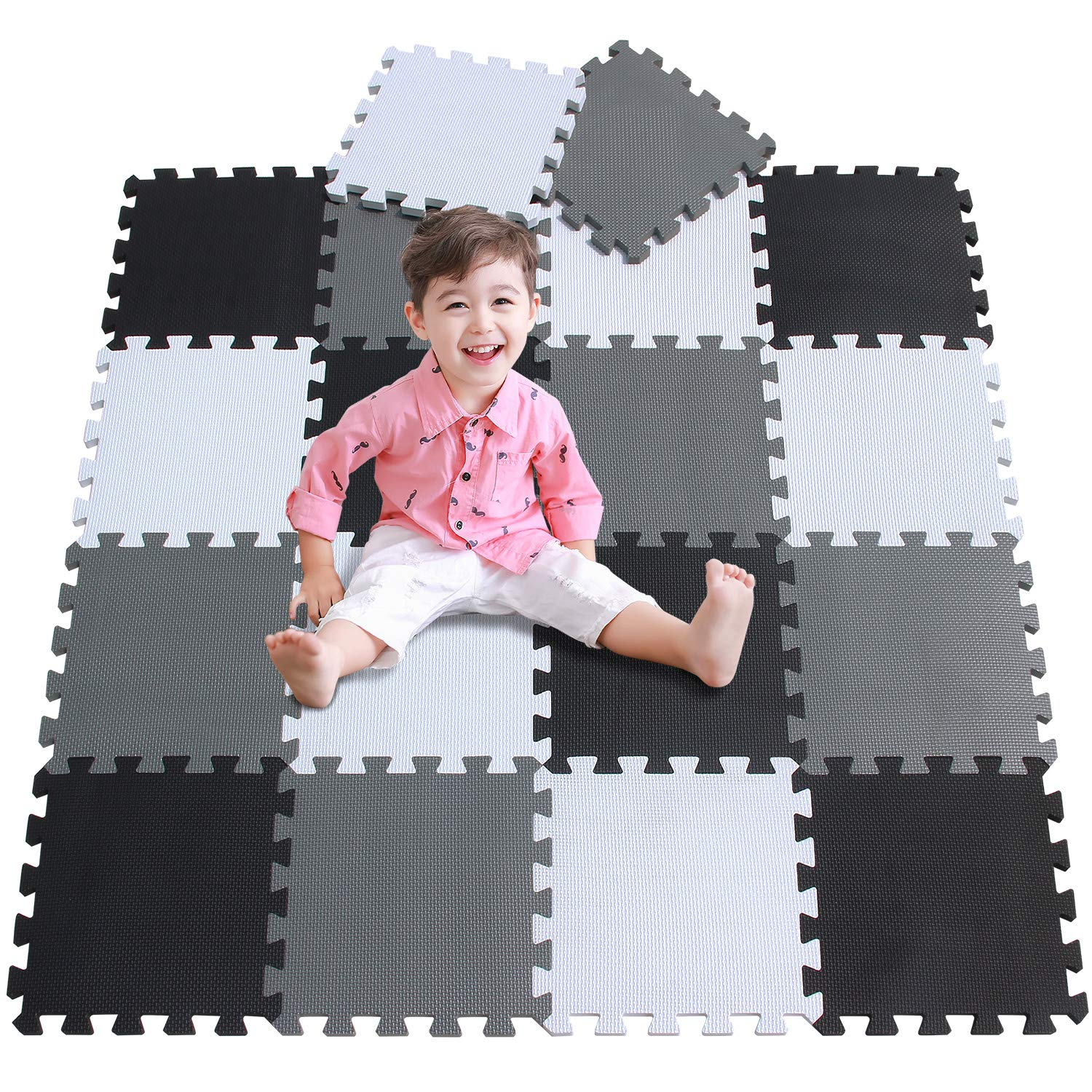 24 PCS Mat EVA Foam Baby Play For Floor Jigsaws Puzzle Portable Foldable UK 18