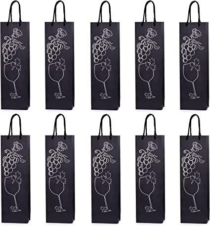 10 bolsas para botellas, bolsas de regalo para vino, prosecco y ...