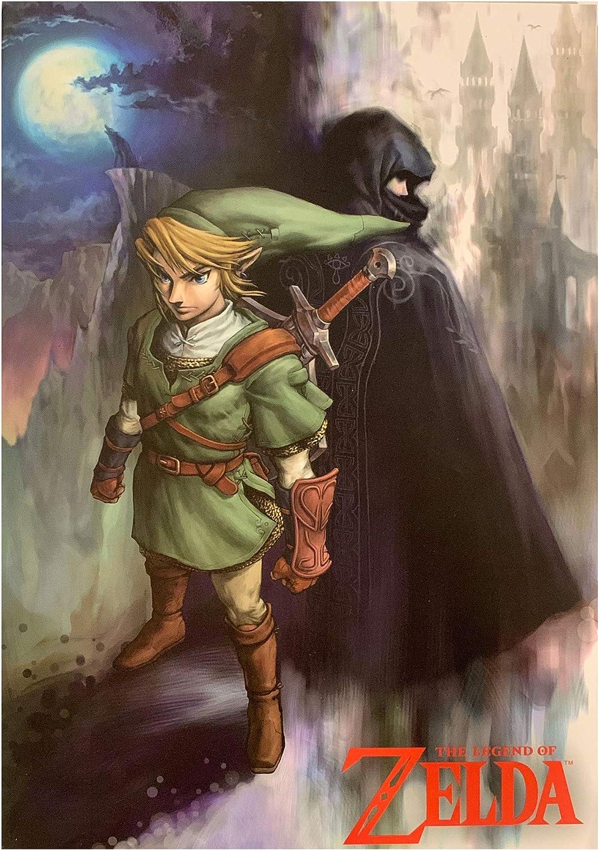 Zelda Wood Wall Art - Cloaked Figure