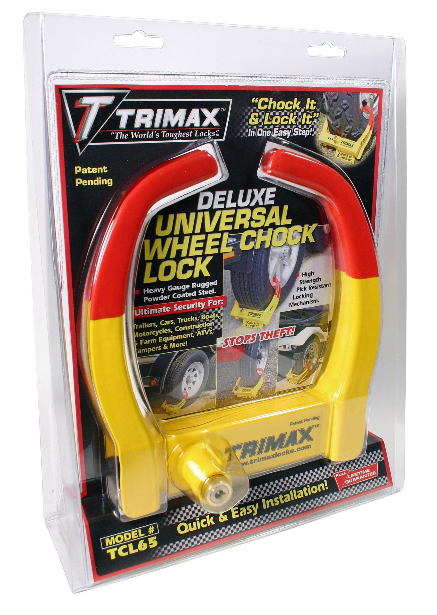 Trimax TCL265 Small Deluxe Keyed Alike Wheel Chock Lock, (Pack of 2) by Trimax (Image #2)
