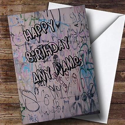 Amazon Graffiti Art Wall Funny Personalized Birthday Greetings