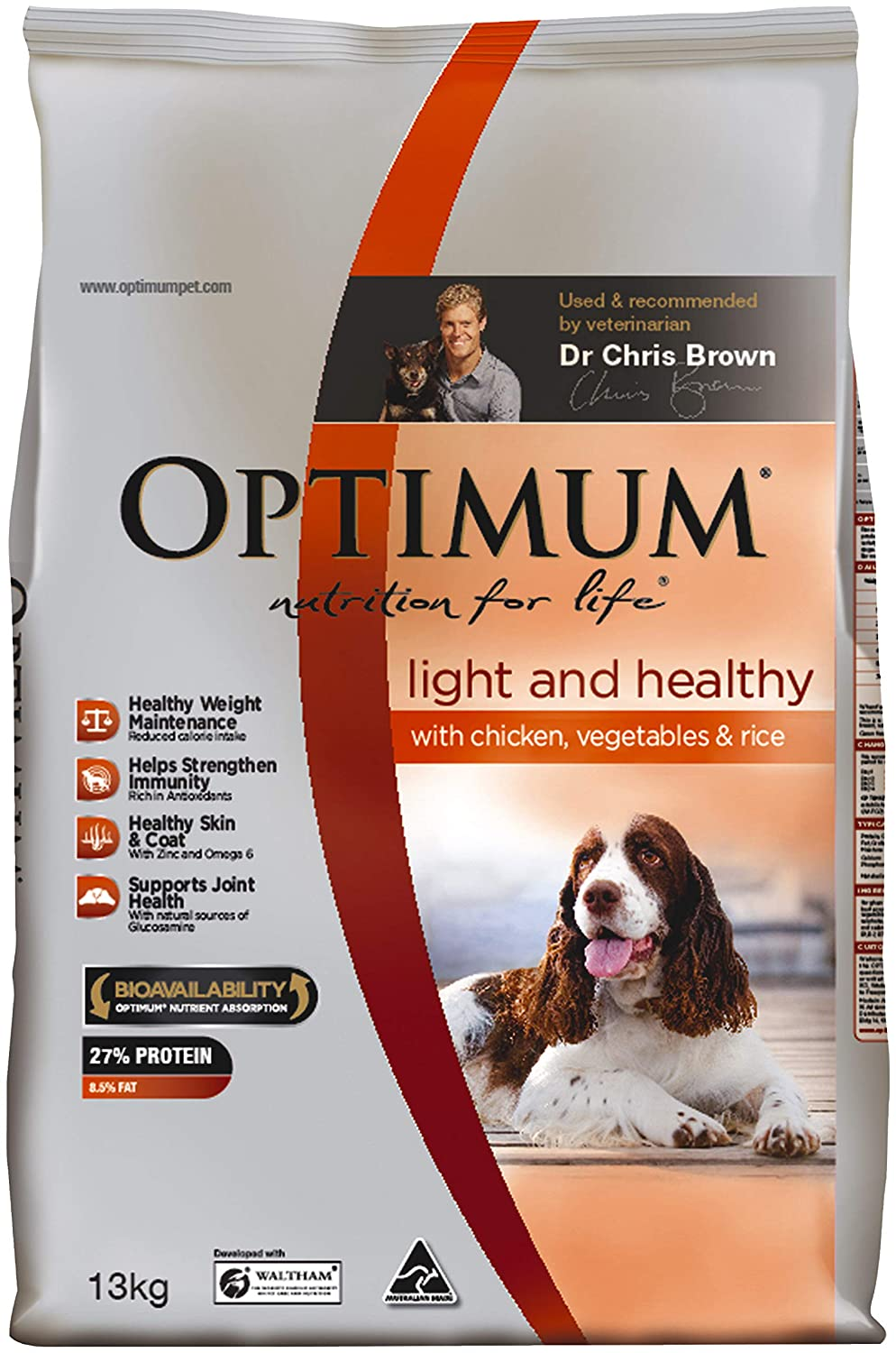 OPTIMUM Light & Healthy 13kg Dog Dry Food, 13.23 kilograms