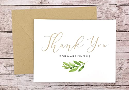 Amazon Com Thank You For Marrying Us Card Thank You For