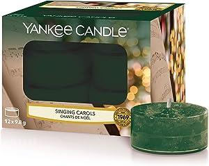 YANKEE CANDLE Velas aromáticas, villancicos Cantantes, Tea Light Candles (x 12)