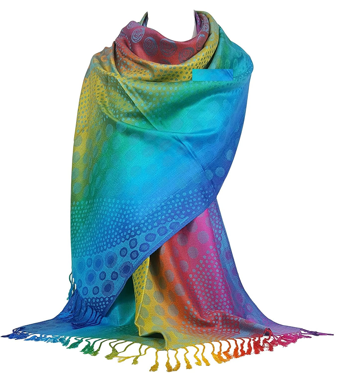 GFM Silky Feel Pashmina Style Scarf Wrap in Paisley/Elephant/Floral