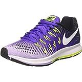 Nike Women's Wmns Air Zoom Pegasus 33, HYPER GRAPE/WHITE-HYDRANGEAS