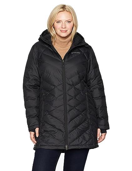 1bde7baae8c Amazon.com  Columbia Women s Heavenly Long Hooded Jacket - Plus Size ...