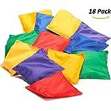18 Pack Nylon Bean Bags Fun Sports Game Bean Bag Carnival Toy Bean Bag Toss Game