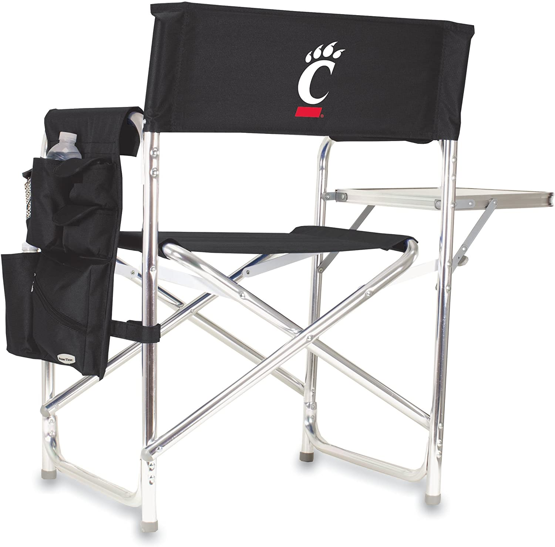 NCAA University of Cincinnati Bearcats刺繍スポーツ椅子、ブラック、1サイズ