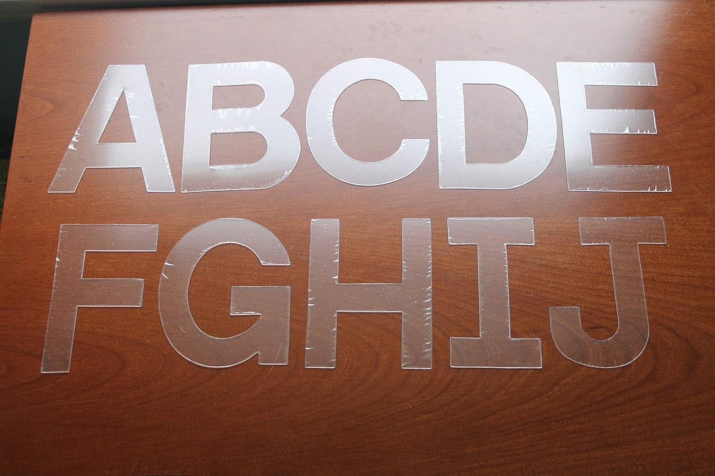 Acrylic Block Font Letters 2
