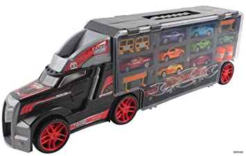 memtes car carrier transport truck toy for kids includes 8 metal cars 1 truck