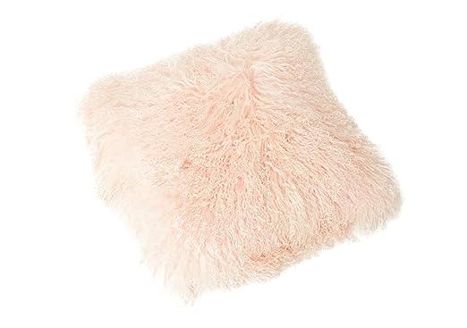 Funda para cojín Tíbet piel de cordero 30x30cm ¡Una amplia gama de colores! JAY04 color beis claro