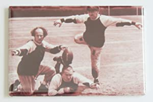 Three Stooges Football Fridge Magnet (2.5 x 3.5 inches)