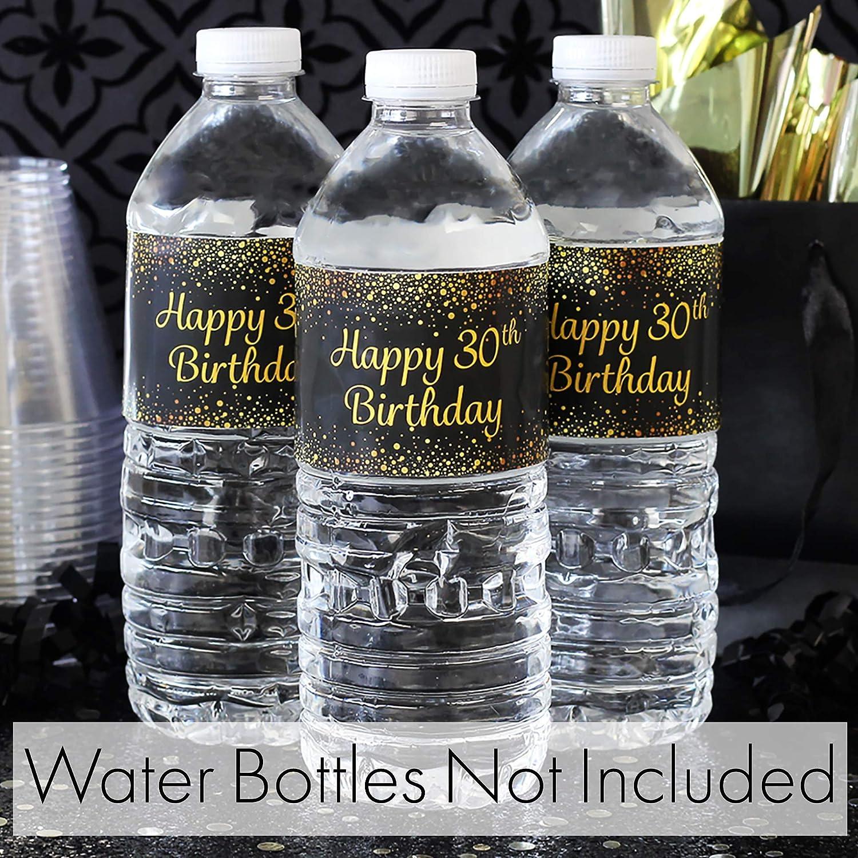 Kissing her 30/'s Goodbye Navy Blue and Silver Birthday Bottle Wraps Milestone Birthday 30 Birthday Water Bottle Labels