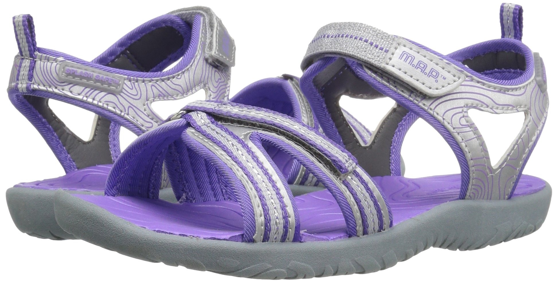 M.A.P. Lorna Girl's Outdoor Sandal, Silver/Purple, 2 M US Little Kid by M.A.P. (Image #6)