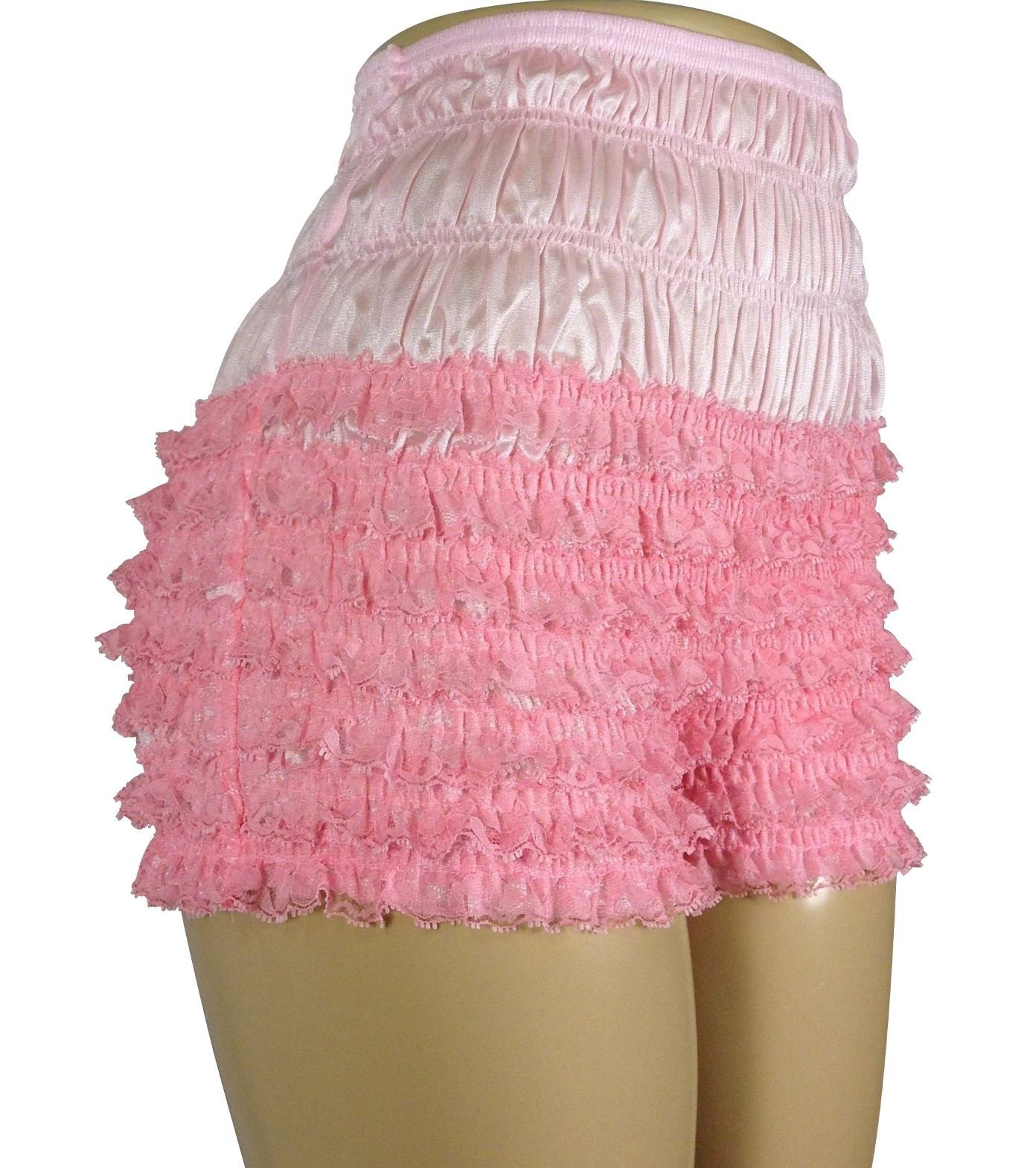 Malco Modes Womens Sexy Ruffle Panties Tanga Dance Bloomers Sissy Booty Shorts (Light Pink, Large) by Malco Modes