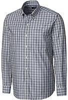 Cutter and Buck MCW09580 Men's Gilman Plaid Shirt, College Purple - XXL